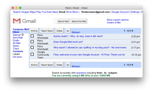 Google Mail (Basic HTML) screenshot